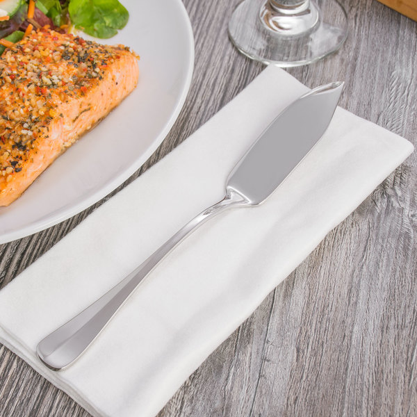 """Oneida T148KFSF Baguette 8 3/8"""" 18/10 Stainless Steel Extra Heavy Weight Fish Knife - 12/Case"""