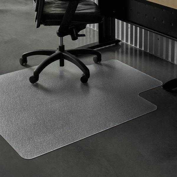 Es Robbins 132133 Everlife 53 X 45 Clear Vinyl Lipped Straight Edge Heavy Use Hard Floor Chair Mat