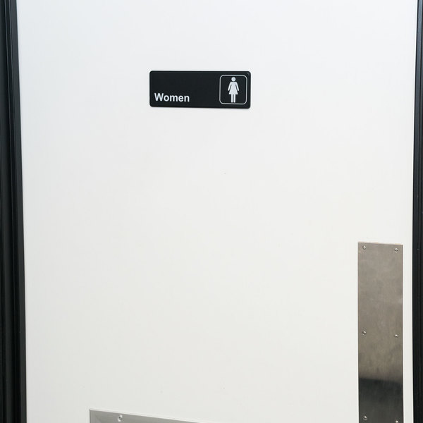 """Women's Restroom Sign - Black and White, 9"""" x 3"""""""
