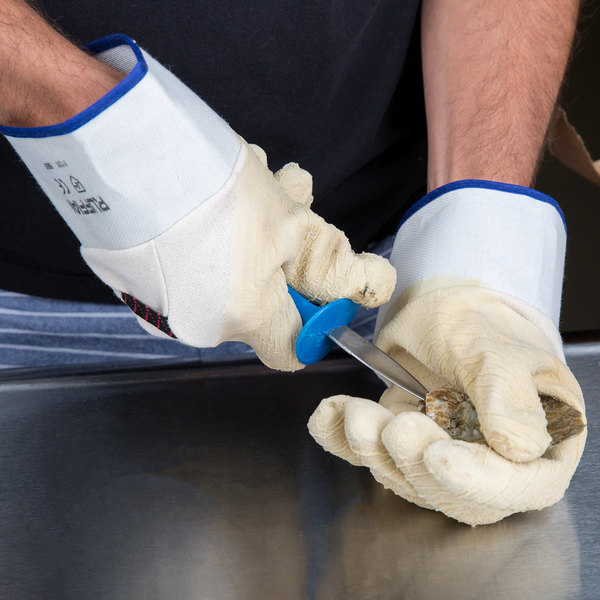 Yellow Rubber Oyster Shucking Gloves, Pair Main Image 8