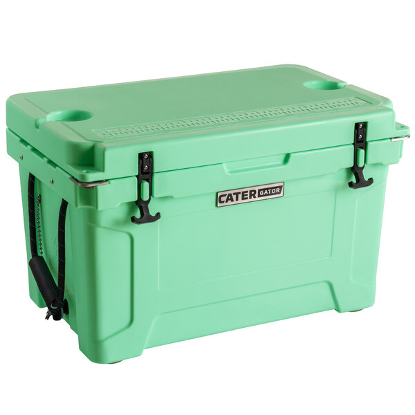 CaterGator CG45SF Seafoam 45 Qt. Rotomolded Extreme Outdoor Cooler / Ice Chest Main Image 1