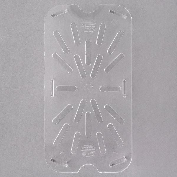 Carlisle 3069507 1/4 Size Polycarbonate Clear Drain Tray Main Image 1