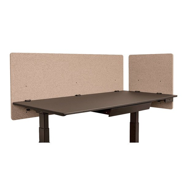 Luxor RCLM2D6024DS RECLAIM Desert Sand Desk Mount Privacy Panel Set with  (1) 24