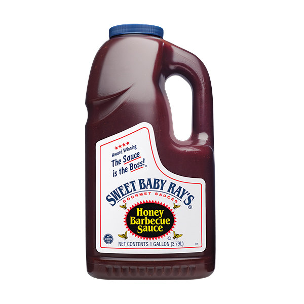 Sweet Baby Ray's 1 Gallon Sweet Honey Barbecue Sauce - 4/Case