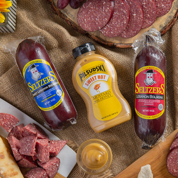 Seltzer's Lebanon Bologna Holiday Dipping Duo with Assorted Whole Bologna Chubs and Mustard Main Image 3
