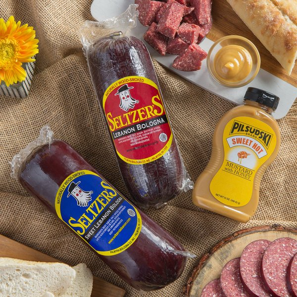Seltzer's Lebanon Bologna Holiday Classic Dipper with Assorted Whole Bologna and Mustard Main Image 2