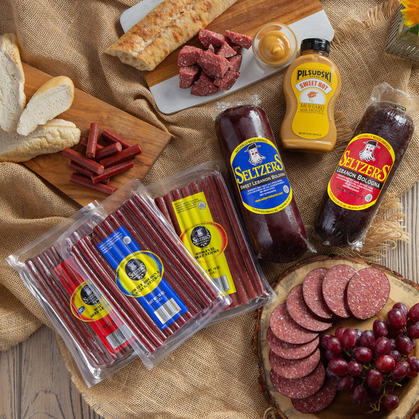 Seltzer's Lebanon Bologna Holiday Little Dipper with Assorted Whole Bologna, Beef Sticks, and Mustard Main Image 2