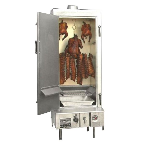 """Town SM-24-L-SS Natural Gas Indoor 24"""" Stainless Steel Smokehouse with Left Door Hinges - 45,000 BTU"""