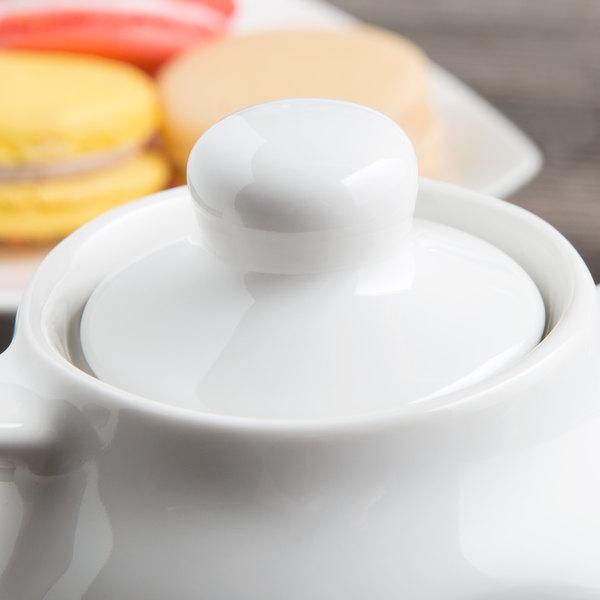 Tuxton BWT-100L DuraTux White China Replacement Lid for BWT-100 Teapot - 12/Case