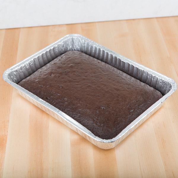 "Durable Packaging 4700-35 13"" x 9"" Foil Cake Pan - 25/Pack"