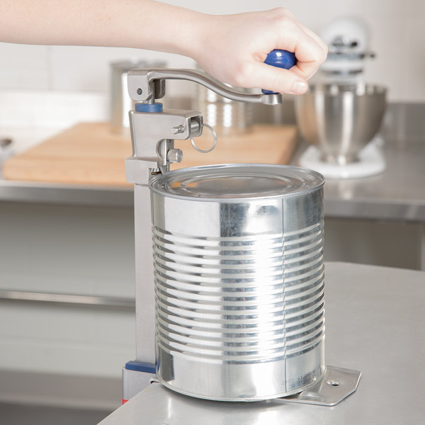"""Edlund SG-2 NSF Manual Can Opener with 16"""" Adjustable Bar and Stainless Steel Base"""