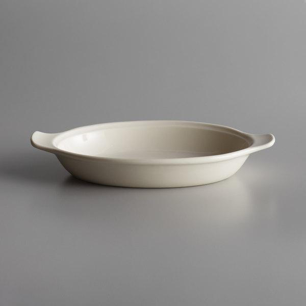 Syracuse China 950027749 Casablanca 15 oz. Cream White Large Welsh Porcelain Rarebit - 24/Case