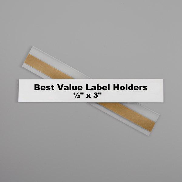C 038944700137 1 x 2 13//16 Top Load Self-Adhesive Ring Binder Label Holders