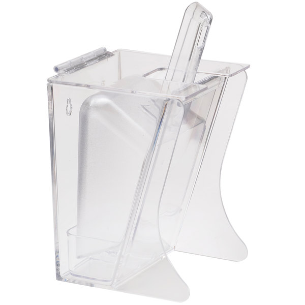Cal-Mil 355 Freestanding Scoop Holder with 32 oz. Scoop and Drip Tray