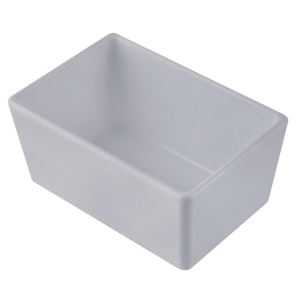"""Tablecraft CW5020N Simple Solutions 1/9 Size Natural Finish Cast Aluminum Straight Sided Bowl - 3"""" Deep Main Image 1"""