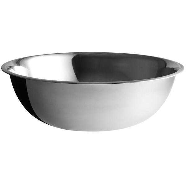Choice 30 Qt Standard Weight Stainless Steel Mixing Bowl