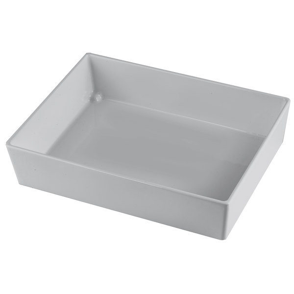"""Tablecraft CW5004N Simple Solutions 1/2 Size Natural Finish Cast Aluminum Straight Sided Bowl - 3"""" Deep Main Image 1"""