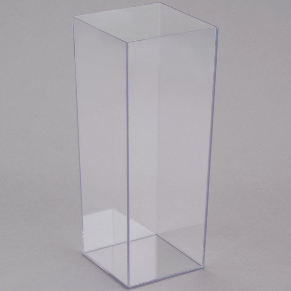 Cal Mil 879 12 5 X 12 Square Clear Acrylic Accent Display Vase