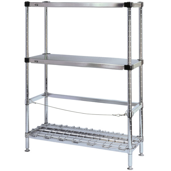 """Metro 3KR346FC Two Keg Rack with One Dunnage Rack - 42"""" x 18"""" x 64 1/8"""" Main Image 1"""