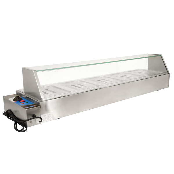 "57"" Electric Bain Marie Food Warmer with 5 Half Size Wells - 1800W, 110V"