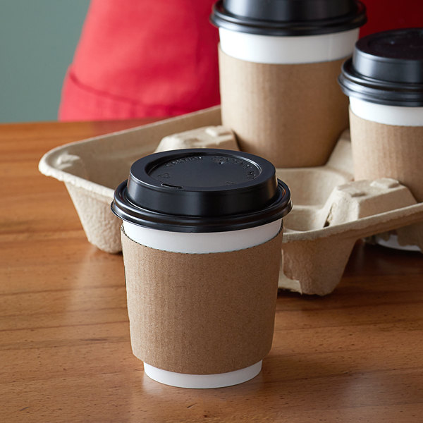 DISPOSABLE PAPER COFFEE//TEA CUPS /& SIP LIDS CATERING TAKEAWAY CAFE HOT DRINKS