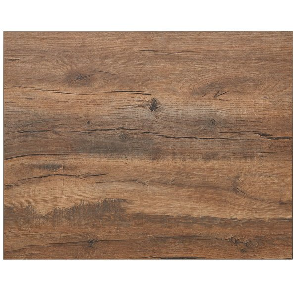 """BFM Seating KP2430 Relic Knotty Pine 24"""" x 30"""" Rectangular Melamine Table Top with Matching Edge Main Image 1"""