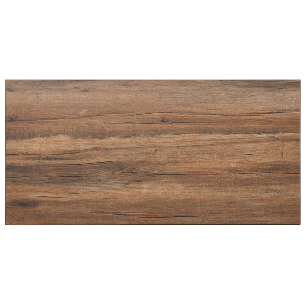 Bfm Seating Kp3060 Relic Knotty Pine 30 X 60 Rectangular Melamine Table Top With Matching Edge
