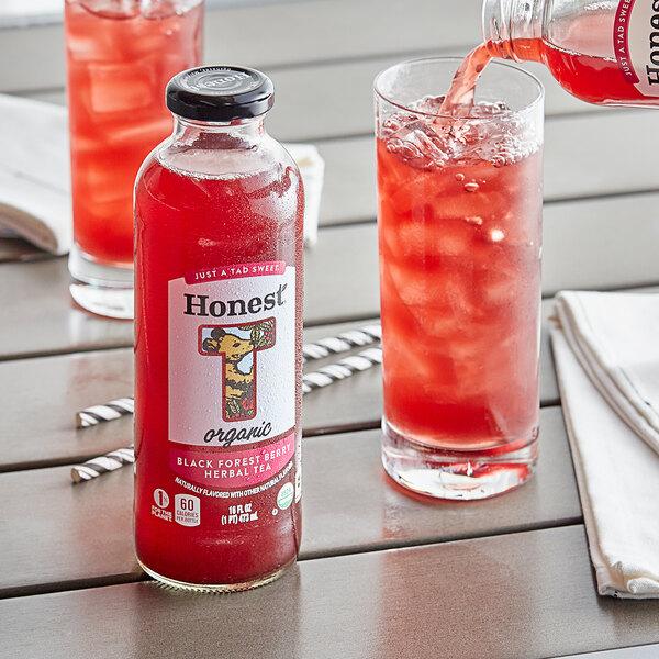 Honest Tea 16 fl. oz. Organic Black Forest Berry Herbal Iced Tea - 12/Case Main Image 3