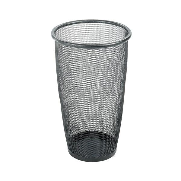 Safco 9718BL 9 Gallon Black Round Mesh Wastebasket Main Image 1