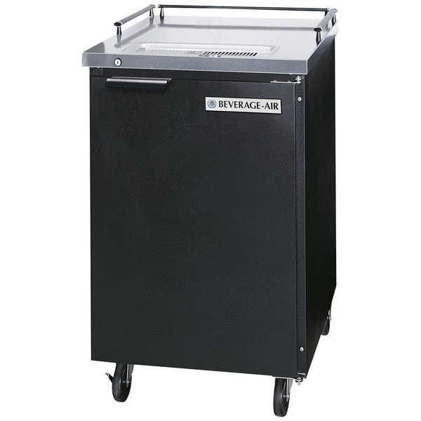 Beverage Air BM23-B-28 Black Beer Dispenser without Draft Tower - 1 Keg Kegerator