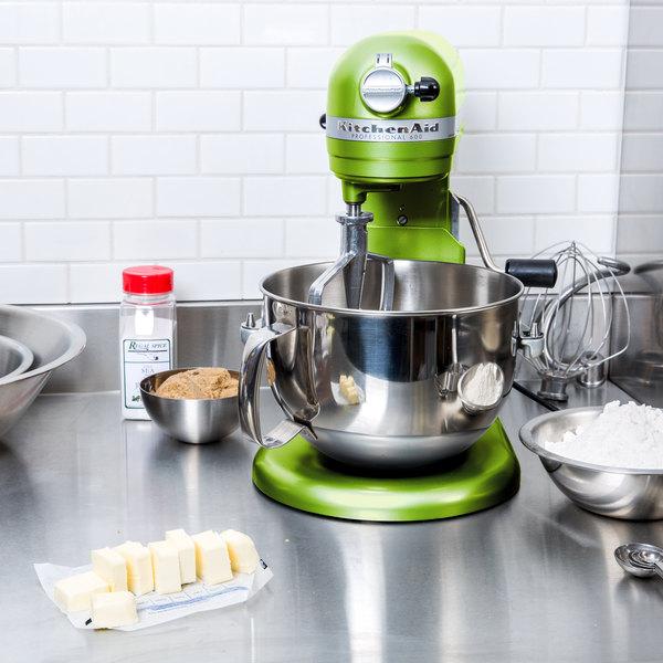 Ordinaire KitchenAid KP26M1XGA Green Apple Professional 600 Series 6 Qt. Countertop  Mixer