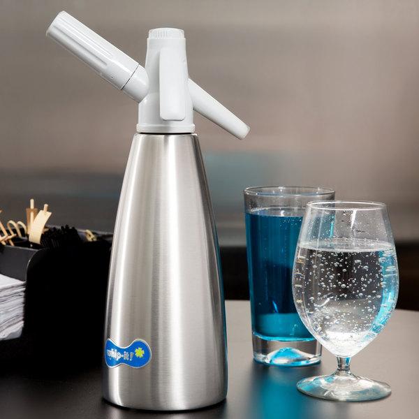 Whip-It SSSV-01 Soda Siphon - Silver 1 Liter