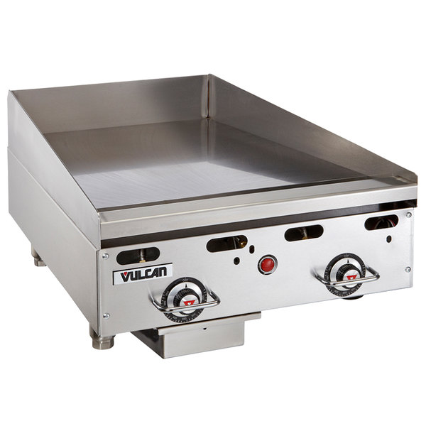 """Vulcan MSA24-30 24"""" Countertop Liquid Propane Deep Griddle with Snap-Action Thermostatic Controls - 54,000 BTU Main Image 1"""