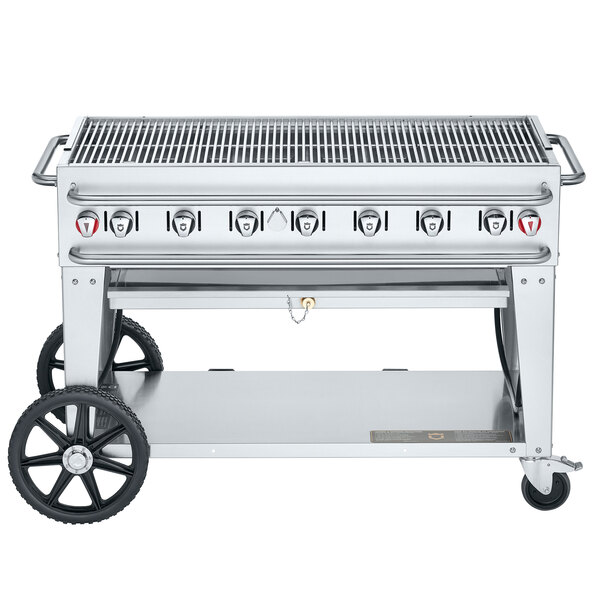 """Crown Verity RCB-48-SI-LP 48"""" Outdoor Rental Grill with Single Gas Connection Main Image 1"""