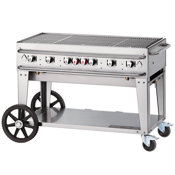 "Crown Verity RCB-48-SI-LP 48"" Outdoor Rental Grill with Single Gas Connection"