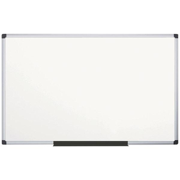 "MasterVision CR1501170MV Super Value 48"" x 96"" White Magnetic Porcelain Dry Erase Board with Aluminum Frame"