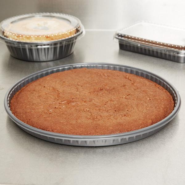 "Genpak 55C12 Bake N' Show 12"" Dual Ovenable Round Pizza / Cake / Cookie Pan - 100/Case Main Image 6"