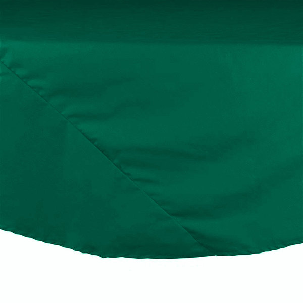 "132"" Green Round Hemmed Polyspun Cloth Table Cover"
