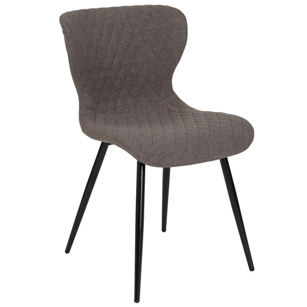 Flash Furniture LF-9-07A-GRY-F-GG Bristol Contemporary Gray Fabric Upholstered Chair Main Image 1