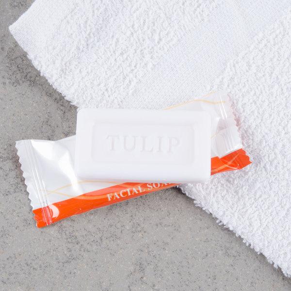 Tulip .4 oz. Hotel and Motel Wrapped Bath / Facial Soap Bar - 1000/Case