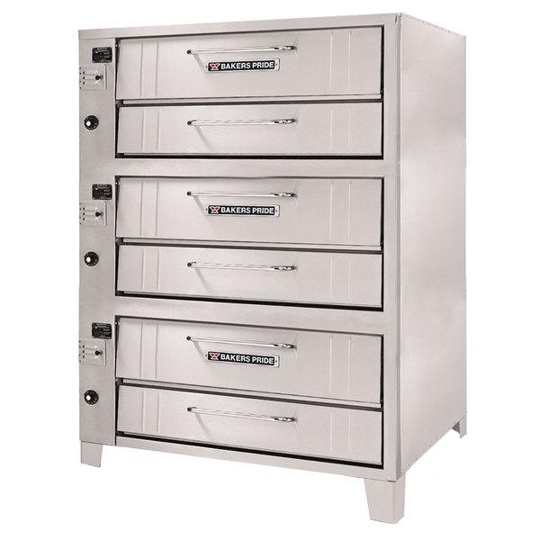 "Bakers Pride 153 Liquid Propane Pizza Deck Oven Triple Deck 36"" - 144,000 BTU"
