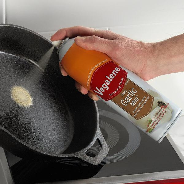 Vegalene 17 oz. Zesty Garlic Mist Cooking and Seasoning Spray - 6/Case Main Image 3