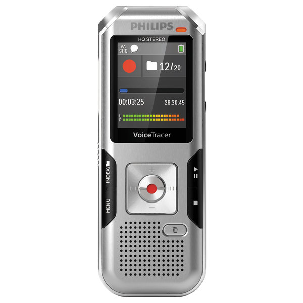 Philips DVT4010 Voice Tracer Silver 8 GB Digital Recorder