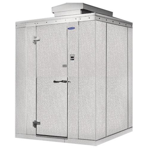 """Lft. Hinged Door Nor-Lake KODB7766-C Kold Locker 6' x 6' x 7' 7"""" Outdoor Walk-In Cooler"""