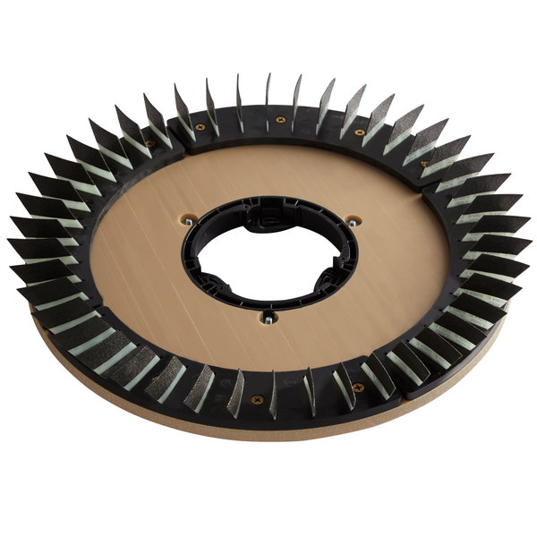 """Minuteman 172920-4 20"""" Polymer Brush Disc for E20 Automatic Scrubber - 100 Grit Main Image 1"""