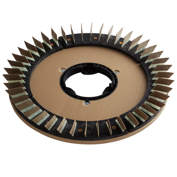 """Minuteman 172920-3 20"""" Polymer Brush Disc for E20 Automatic Scrubber - 50 Grit Main Image 1"""