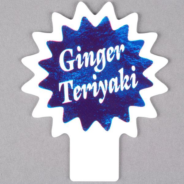 Deli Tag Topper - GINGER TERIYAKI - Ocean Blue