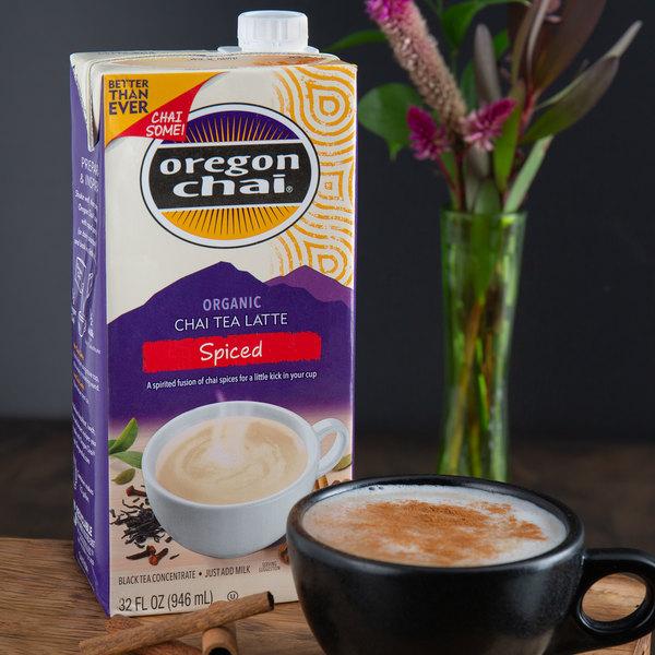 Oregon Chai 32 oz. Organic Spiced Chai Tea Latte Concentrate