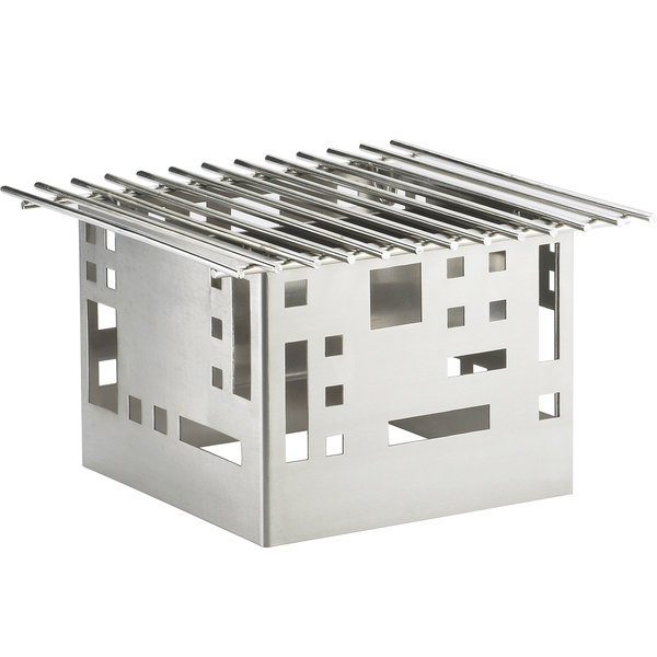 """Cal-Mil 1612-12-55 Squared Stainless Steel Chafer Griddle - 12"""" x 12"""" x 7 1/2"""""""