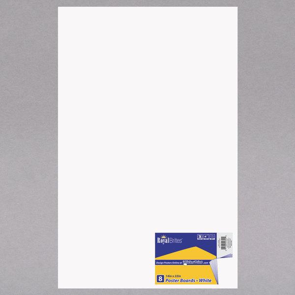 """Royal Brites 24324 14"""" X 22"""" White Poster Board"""